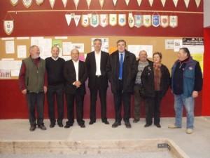 Visite du Président de la FFPJP au boulodrome de Plougastel